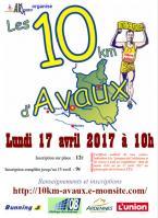 Affiche 10km avaux 2017